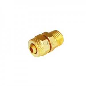 "Brass P U Connector Assembly 1/4"" x 6mm  - PUC146M"