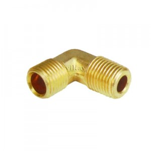 "Brass Connector Elbow Male  3/8"" x 1/4""  - CEM3814"