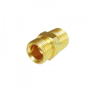 "Brass Olive Connector Male Only 10mm x 3/8"" - BSP - OCM10M38"