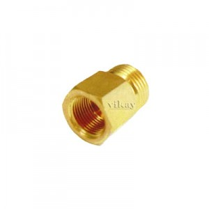 "Brass Adapter Male x Female  3/8"" x 3/8""  - AMF3838"