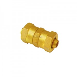 Brass Equal P U Connector Assembly 8mm x 8mm  - EPUC8M