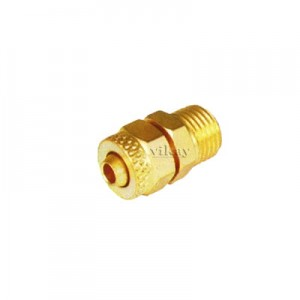"Brass P U Connector Assembly 1/4"" x 12mm  - PUC1412M"